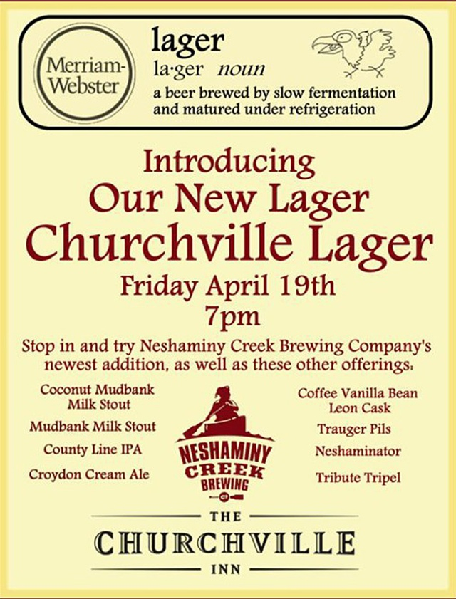 Churchville Lager Flyer